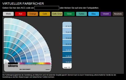 virtueller farbfächer
